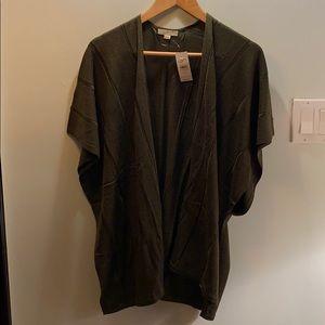 NWT Loft Olive green knit poncho